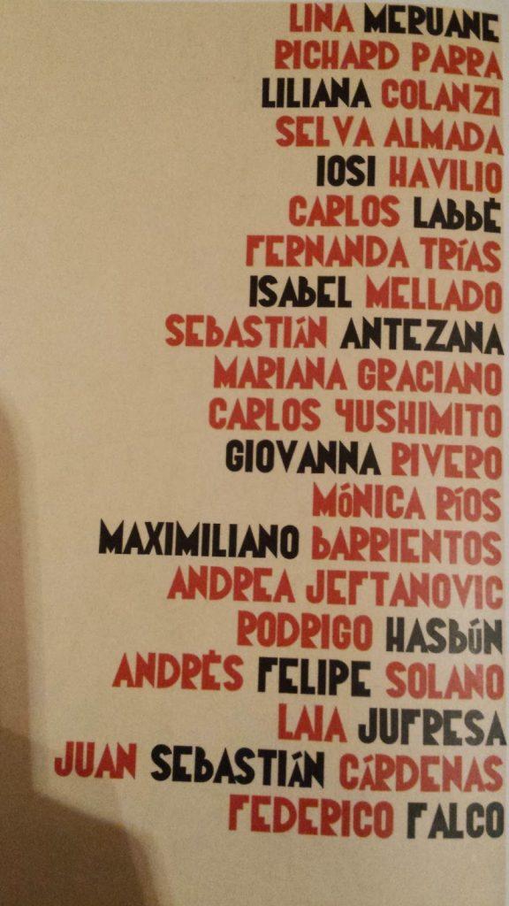 Autores que participan en la antología.