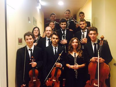 Los músicos murcianos triunfadores en Viena.