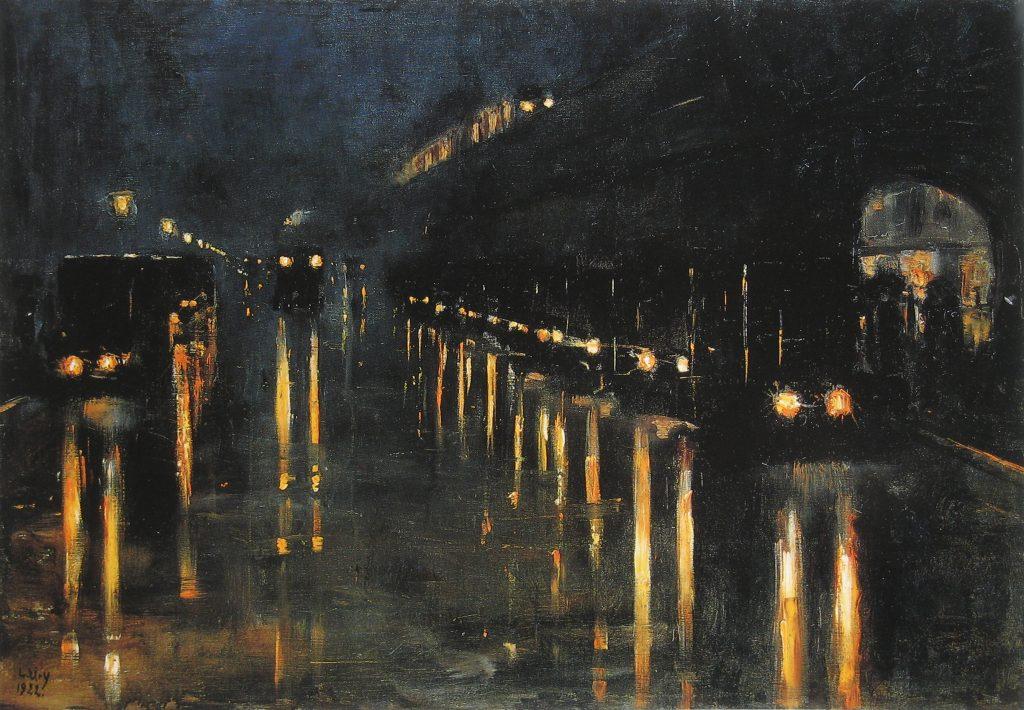 Calles lluviosas, de Lesser Ury.