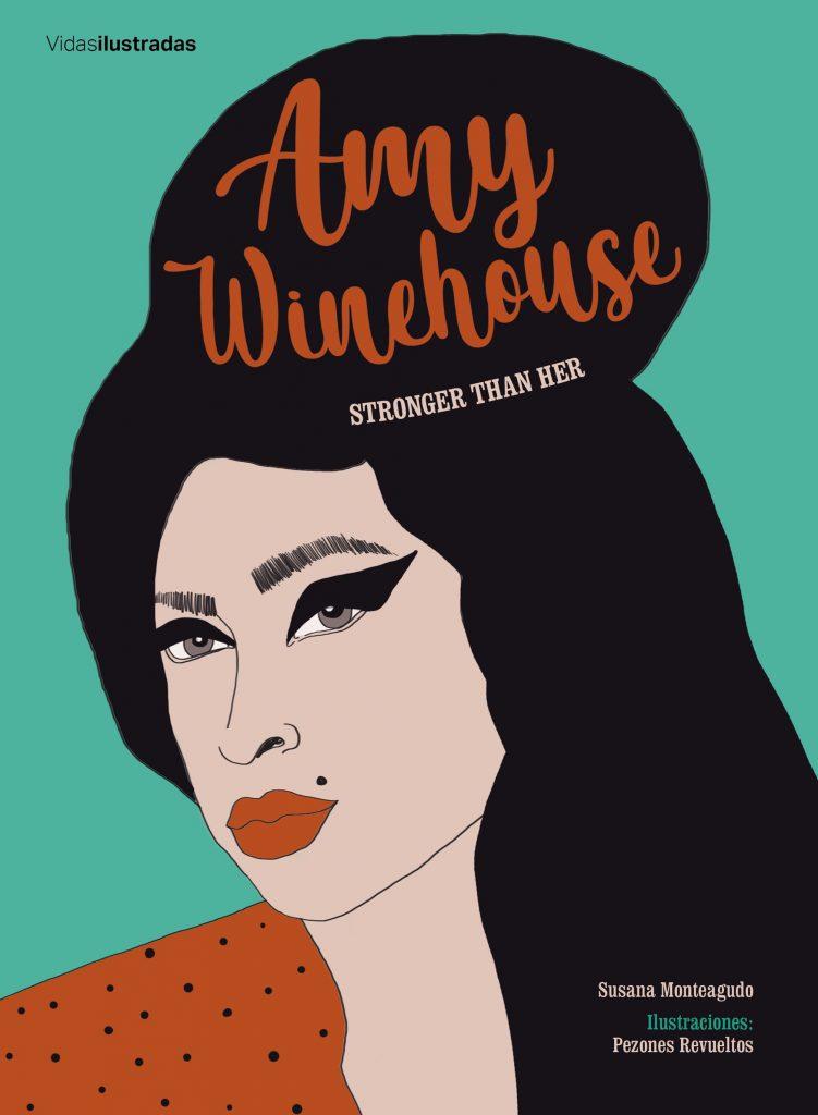 Cubierta de la biografía ilustrada de Amy Winehouse.