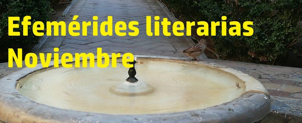 Efemérides literarias noviembre.