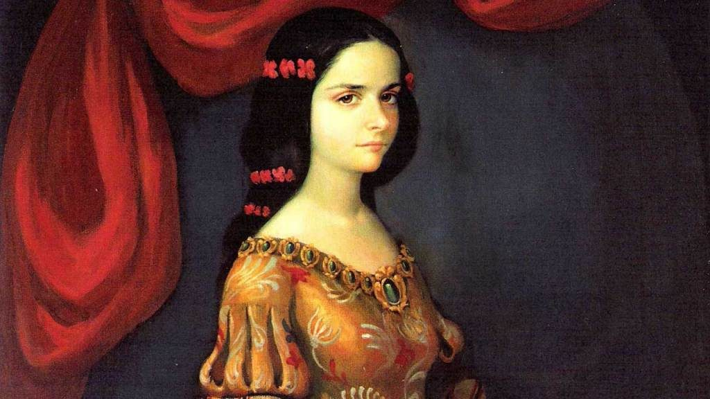 Sor Juana Inés de la Cruz retratada en su juventud.