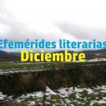 Efemérides literarias diciembre