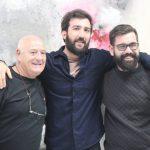 Los artista junto con Antonio Roa, coordinador de los encuentros.